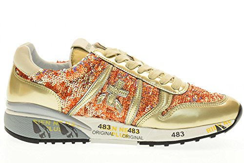 PREMIATA scarpe donna sneakers basse DIANE 2100 Dorato
