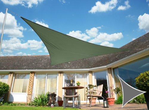 Voile d'Ombrage Vert Menthe Triangle 5m - Imperméable - 160g/m2 - Kookaburra