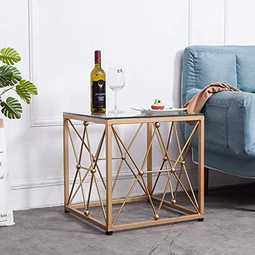 IG Haushalt Couchtisch Einfache Moderne Schmiedeeisen Sofa Beistelltisch Mini Schlafzimmer Bett Tischchen,Gold - Schlafzimmer Modernen Beistelltisch