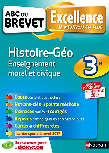 ABC du BREVET Excellence Histoire - Géo - Enseignement moral et civique 3e par Sandrine Gstalter