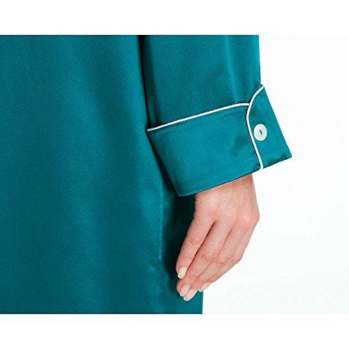 LILYSILK Lussuosa Camicia Da Notte In Seta Con Bianco Filetto 22MM Violetto Rosso Blu reale