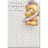 Granddaughter 1st Birthday, (Forever Friends) Birthday Card