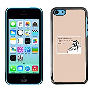 GooooStore/Tasche Etui Hülle - Thin Fat Lifestyle Quote Diet Funny Moustache - Apple iPhone 5C