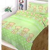 Blueberry Shop Ensemble de linge de lit pour bébé comprenant une housse de couette et une taie d'oreiller 90 x 120cm