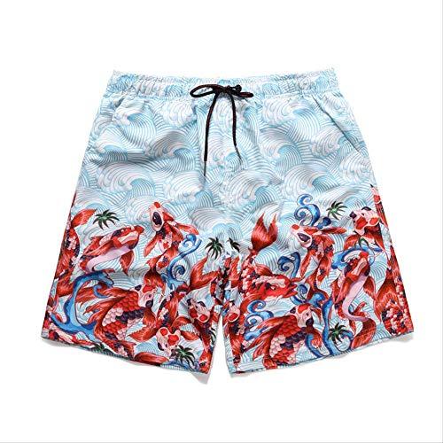 CZYHP Herren Beach Board Badeshorts Bademode Beachwear Herren Surf Schwimmen Short Jogger Jogginghose XL Rot
