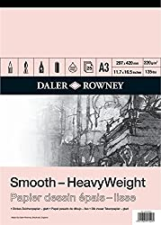 Daler Rowney Heavyweight Cartridge Pad 220gm A3 25s (Pad)