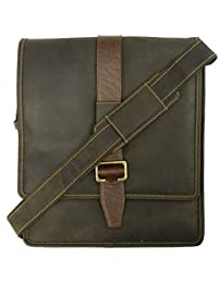 Visconti 16159 Zoltan Medium Messenger Bag In Oiled Leather (Oil Brown)