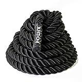 POWRX Battle Rope Schwungseil | 15 m x 3,8 cm oder 15 m x 5 cm | Trainingsseil Sportseil Schlagseil Fitness Tau