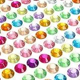 Parth Impex 1699pezzi 3mm 4mm 5mm 6mm Bling autoadesivo multicolore strass acrilico foglio diamante gioiello gioiello adesivi per di scrapbooking abbellimenti DIY Arts Crafts Body Face Nails