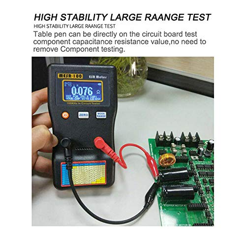 Ocamo Kapazitätsmessgerät, MESR-100 ESR Kapazität Ohm Meter Cap Widerstand Kondensator In Circuit Tester (Keine Stromversorgung) -