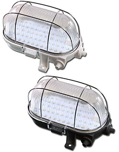 LED Ovalleuchte mit 60 LEDs in schwarz, 4 Watt, IP44, 400 lm