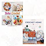 Crochet Home and Boho Crochet 2 Books Bundle Collection - 20 vintage modern crochet projects for the home,30 Gloriously Colourful Projects Inspired by Traditional Folk Style [Flexibound]