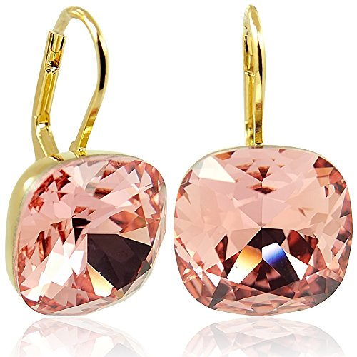 Ohrringe mit Kristallen von Swarovski® Gold Rosa Orange NOBEL SCHMUCK
