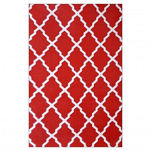 ambientair R120180RJA Outdoor-Teppich, 120 x 180 cm Rot, Rot, Einheitsgröße