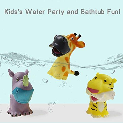 Mitlfuny Schwimmenden Boot Badespaß Zeit Großes Geschenk Bath Toys für Baby,Gummi Kreaturen Tiere Wasser Spielzeug Baby Bad Pool Bad Spielzeug Zubehör für Kind