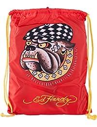 Ed Hardy Casual Bull Dog Drawstring Backpack Bag b25d45237e4e2