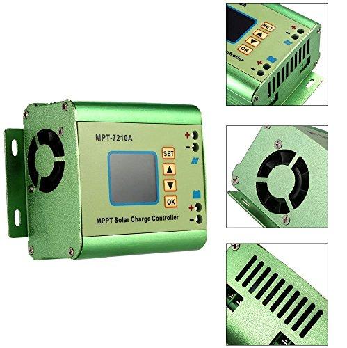 Anself MPPT Solar Laderegler Solar Panel Batterie Regulator 24/36/48/60/72V 10A Kompatible DC-DC-Boost-Ladefunktion - 3