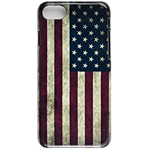 iPhone 7 Protective Slim Case. Tasche Cover. Flag of the United States. USA Flag.