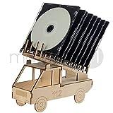 matches21 CD-Ständer Feuerwehr Holz Bausatz zum Zusammenbauen für Kinder ab 8 Jahren