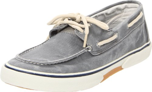 Sperry Mens, Halyard Lace up Boat Shoe Gray 11 M 2 Eye Moc