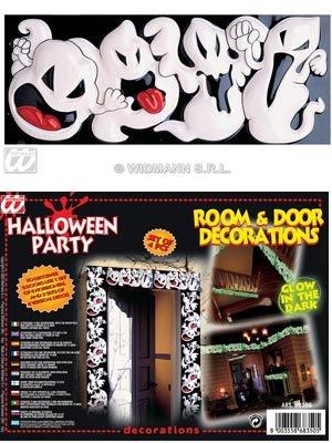 4er Glow in the Dark HalloweenGist Schild (Halloween-party-ideen Glow The In Dark)