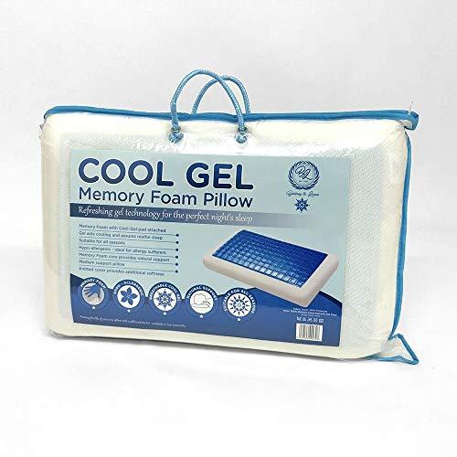 Almohada de espuma con gel refrescante y memoria (almohada reversible)