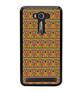 Colourful Pattern 2D Hard Polycarbonate Designer Back Case Cover for Asus Zenfone 2 Laser ZE550KL (5.5 INCHES)