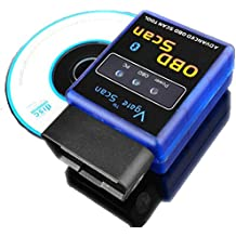 Ake OBD2 ELM327 V1.5 Bluetooth Interface Auto OBDII Scanner Adapter ODB Scan Tool para Android Symbian Win XP