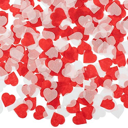 Whaline 6000 Stück Herzen Konfetti Bunte Tisch konfetti Seidenpapier, Tissue Konfetti Herz für Handwerk Hochzeit Geburtstag Party Deko Baby Duschen (1 zoll )