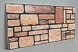 Wandverkleidung in Steinoptik für Schlafzimmer, Wohnzimmer, Küche und Terrasse in Klinkeroptik Look. (ST 235)