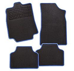 CarFashion 243501 Calypso Blau AL1   Auto Fussmatte in schwarz   Automatten   schwarzer Trittschutz   blaue Hochglanz Kettelung   Auto Fussmatten Set ohne Mattenhalter