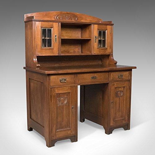 London Fine Antiques Antik Jugendstil-Schreibtisch, Englisch, Viktorianischen, Walnuss Schrank...