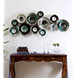 [Sponsored]Collectible India Metal Decorative Flowers Wall Hanging Mounted Modern 3D Arts Sculpture Home Living Room Decor Art (Size 54 X 23 Inches)