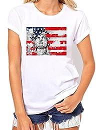 Vovotrade® 2017 Estados Unidos Bandera de la Estatua de la Libertad Mujer Plus Size Impresión