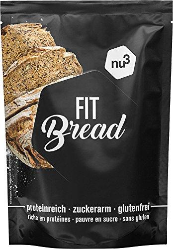 nu3 Fit Bread | 230g Eiweißbrot-Backmischung | 15 Mal weniger Kohlenhydrate | Low Carb & Glutenfrei | für eine eiweißreiche Ernährung | ungesättigte Fettsäuren aus Leinsamen & Chia-Samen | Vegan