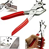 #4: divinext Metal Hole Punch Pliers Repair Tool/Multi Tools For Leather Strap or Waist Belt/Waist Band, Belt Punching Machine with multiple hole sizes