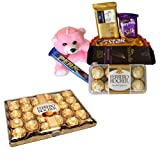Rich Chocolate Basket With 24 Pcs Ferrero Rocher
