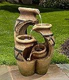 FONTAINE SOLAIRE FONTAINE SOLAIRE Crète jardin fontaine cascade Set complet pour jardin et terrasse jour et nuit !  NEUF