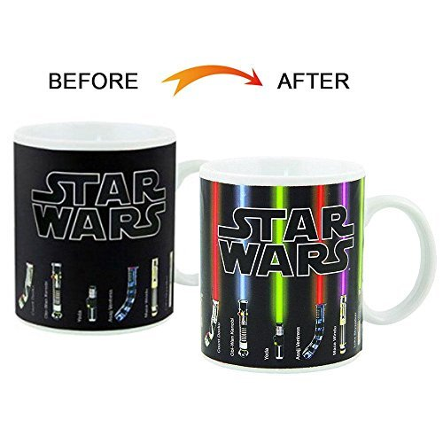 Pawaca Color Changing Mug, Star Wars Mug, Ceramic Mug White with Thermo Effect 330ml - cups / cups / pot for coffee, tea and more