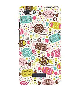 Cakes Cookies Chocklet 3D Hard Polycarbonate Designer Back Case Cover for MIcromax Canvas Unite 3 Q372