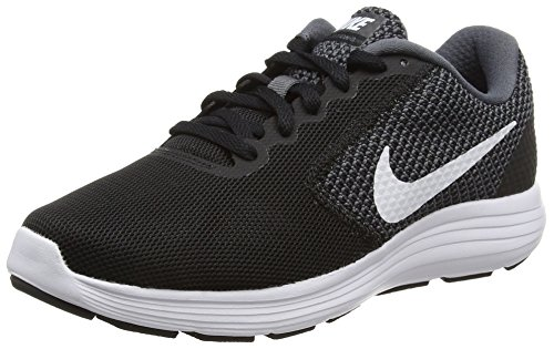 Nike Ladies Wmns Revolution 3 Scarpe Da Corsa Nere (nero / Bianco)