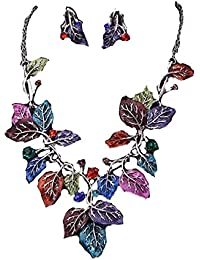 TBOP Set The Best Of Planet Simple And Stylish Set Necklace Exaggerated Bright Shine Leaves Earrings Jewelry In...