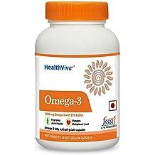 HealthViva Omega 3 Supplement - 60 Softgels