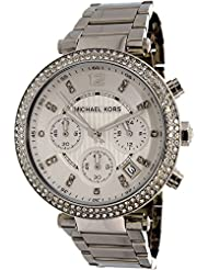 Michael Kors Women's Parker MK5353 Silver Stainless-Steel Quartz Fashion Watch
