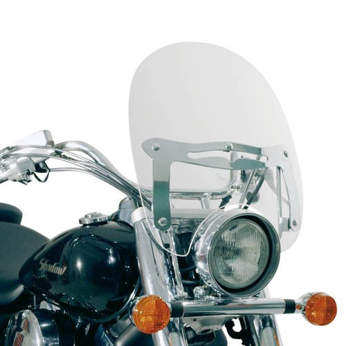 Givi A23G Custom Parabrisas Universal Transparente con Abe 390 mm de Alto, 420 mm de Ancho, con Portegecantos