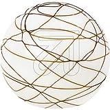 Tischleuchte opal/Dekor braun 66052