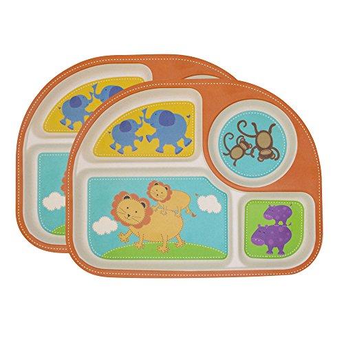 Plato Para Bebé,2 Platos Compartimentos Niño Y