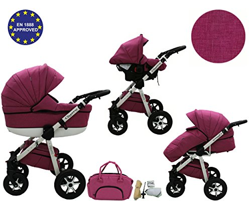 Quero, 3-in-1 Travel System with Baby Pram, Car Seat, Pushchair & Accessories. Linen Edition 2017 … (linen material No. 9) 51OurdOjxRL