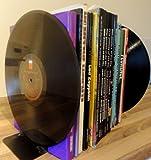 Vinyle Guru classique rétro vintage Noir 30,5cm Album vinyle LP Heavy Duty Grand serre-livres