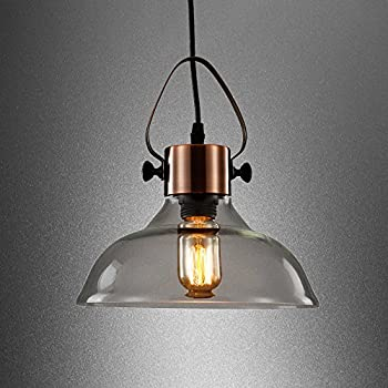 Ledmasters smoke grey glass pendant light vintage retro industrial mstar industrial antique copper metal e27 40w edison vintage style glass ceiling pendant light hanging light mozeypictures Image collections